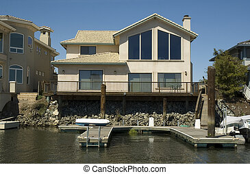 Home with private dock