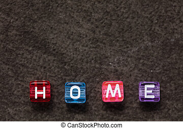 HOME word concept