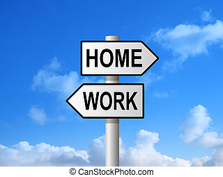 Home Work Signpost