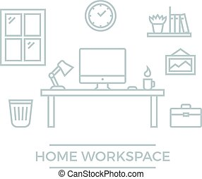 Home Workspace Illustration