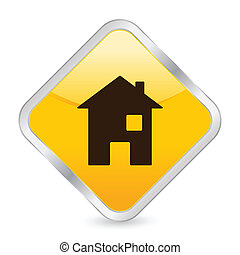 home yellow square icon