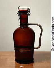 Homebrew Beer in Swing Top Growler with Handle