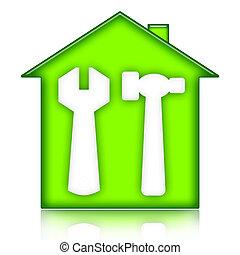 homebuilding, und, renovierung