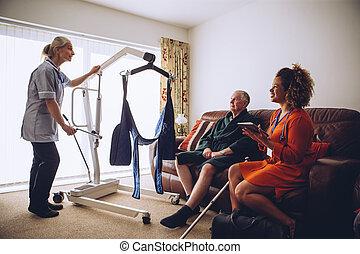 homecare, ανυψωτήρ , δουλευτής , επεξεργάζομαι