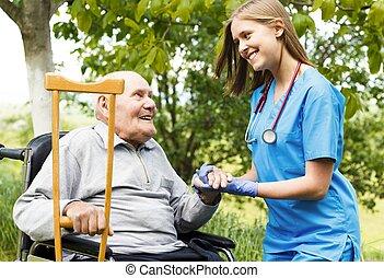 homecare, starszy