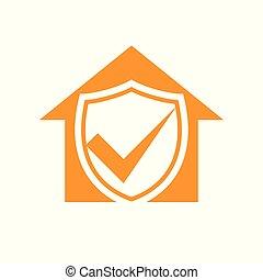 Homeguard Living Insurance Checkmark Symbol Design