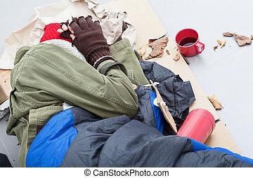 Homeless life on the street