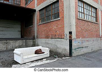 homeless living
