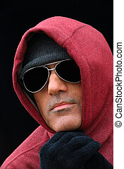 Homeless Man in the Cold - A Portrait - Homeless Man - A...