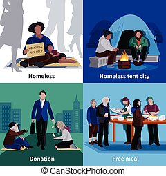 Homeless People 2x2 Design Concept - Homeless people 2x2...