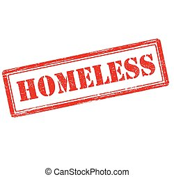 Homeless - Rubber stamp with word homeless inside, vector...