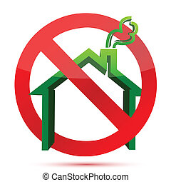 homeless sign - homeless green and red icon illustration...