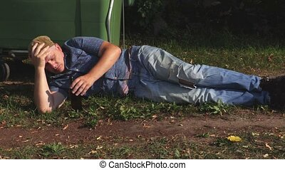 Homeless with hangover