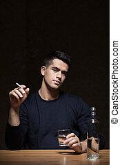 homem, alcoólico
