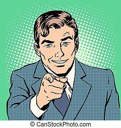homem apontando, dedo