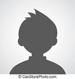 homem, avatar, perfil, quadro
