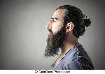 homem, barba