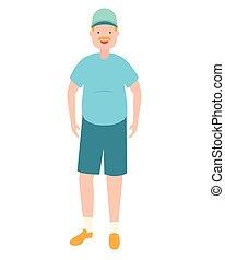 homem, casual, avatar, roupas