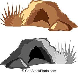 homem caverna