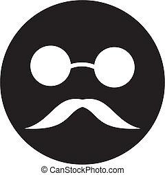 homem cego, ícone