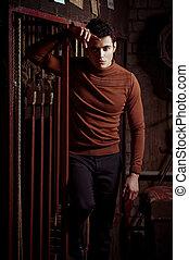 homem, clothes., na moda