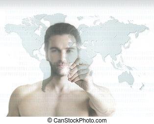 homem, de, mundo
