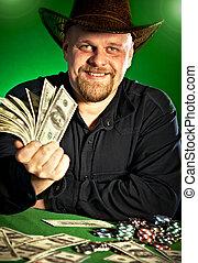 homem dinheiro, mãos