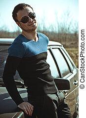 homem, em, na moda, clothes.