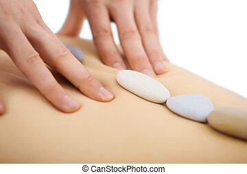 homem, especiais, massagem, mãos