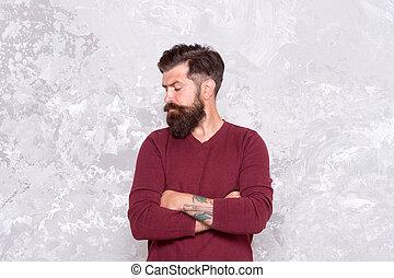 homem, facial, barba, manhood., hipster., sugestões, ...