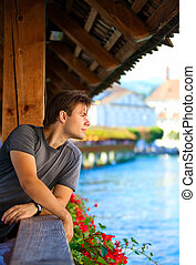 homem jovem, retrato