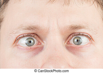 homem, loucos, olhos
