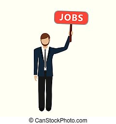 homem, mão, trabalhos, sinal negócio