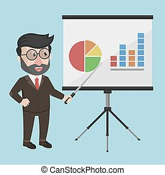 homem negócio, apresentação