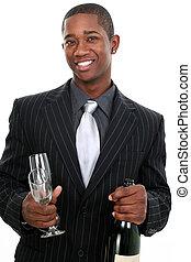 homem, negócio, celebração