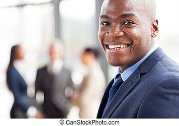 homem negócios, africano