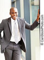 homem negócios, americano, africano