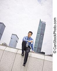 homem negócios, asiático