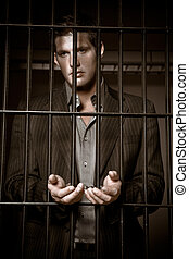 homem negócios, cadeia