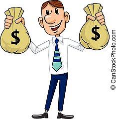 homem negócios, dinheiro