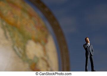 homem negócios, global