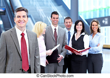 homem negócios, group., pessoas negócio