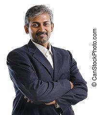 homem negócios, indianas