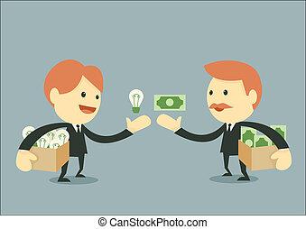 homem negócios, negociar