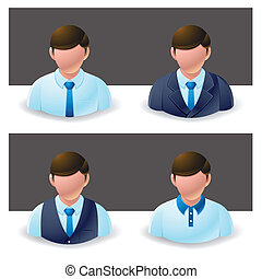 homem negócios, :, pessoas, ícone