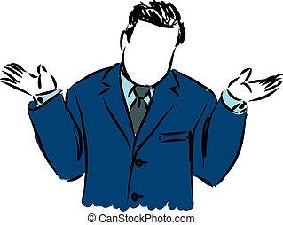 homem negócios, porque, ilustração