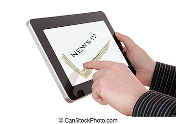 homem negócios, resemble, botões, almofada, informação, não, dispositivo, procurar, aquilo, removido, particular, pesadamente, era, imagem, conduzido, qualquer, modificado, tudo, notícia
