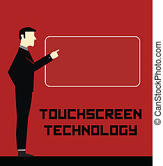 homem negócios, tecnologia