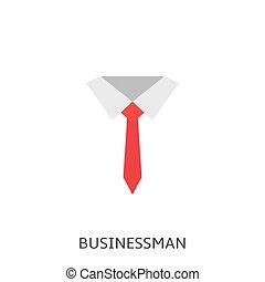 homem negócios, vetorial, ícone