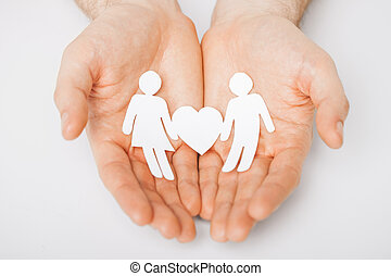 homem, papel, homens, mãos